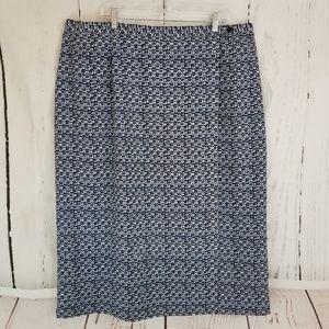 Designs by Lane Bryant Maxi Skirt Sz 26 Blue White